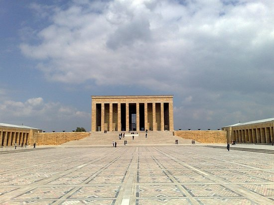 Ankara, Turkije: the view from Anitkabir square