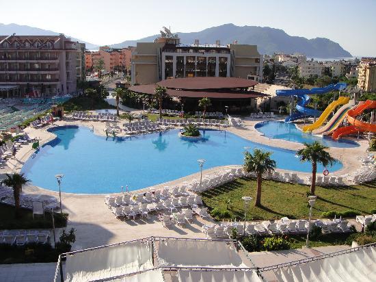 Main Swimming Pool View From Lobby Foto Van Green Nature Resort Spa Marmaris Tripadvisor