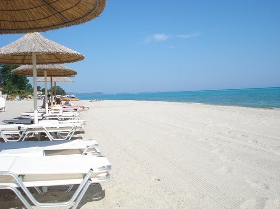 Hanioti, Greece: Beach