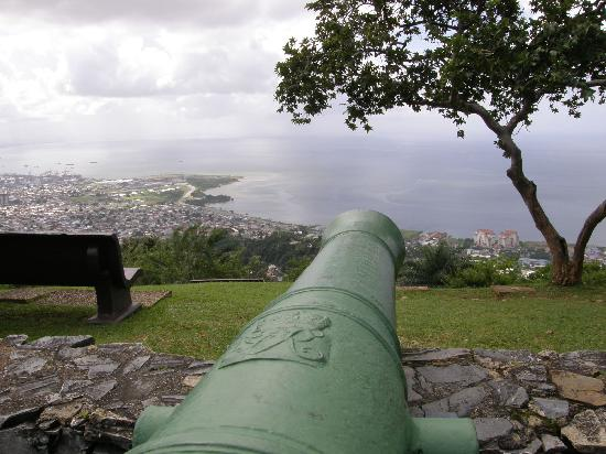 Scarborough, Tobago: King George III's cannons still point to sea at Fort George, Trinidad