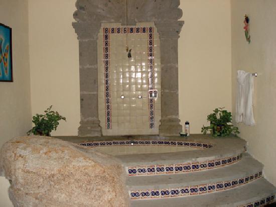 Hacienda Elena: Great shower with boulder