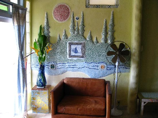 Michi Retreat: the mosaic in the Turkish Room