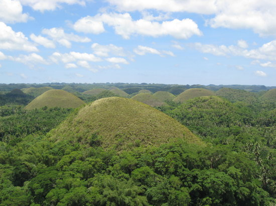 Bohol Island, Filipinler: lots and lots of Chocolate Hills!