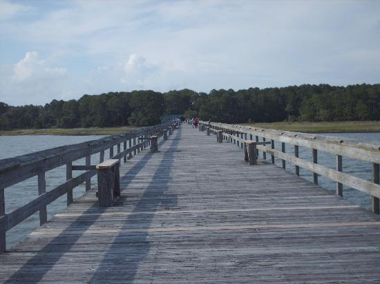 Hunting Island State Park Campground: fishing pier
