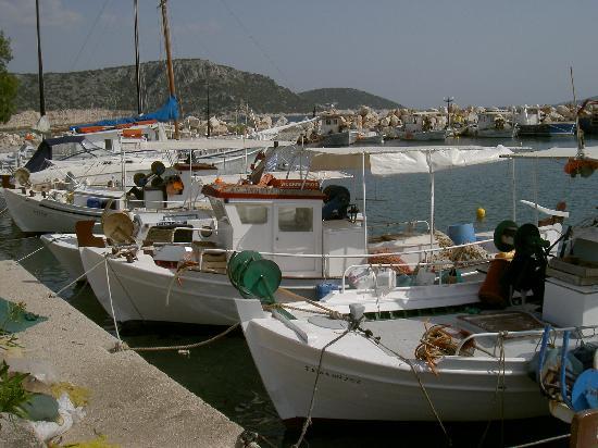 le joli petit port d'Iria ..