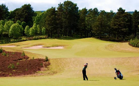 Macdonald Spey Valley Championship Golf Course : Golfer on Spey Valley Golf Course