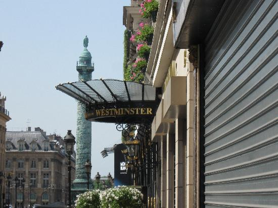 Right next to Place Vendome - Picture of Hotel Westminster, Paris ...