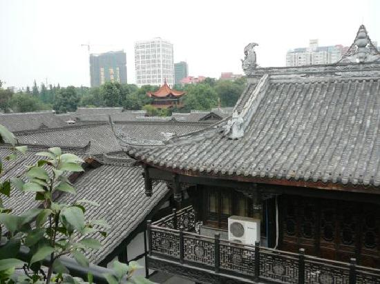 BuddhaZen Hotel : Roof top view of the area's architecture