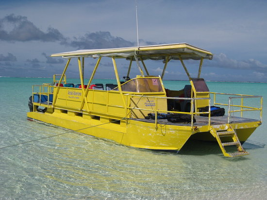 Aitutaki, Isole Cook: Lagoon Cruise - Yellow Boat