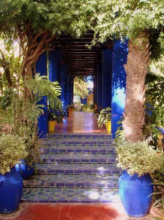 Riad Bamaga Hotel: Le jardin MAJORELLE, une merveille