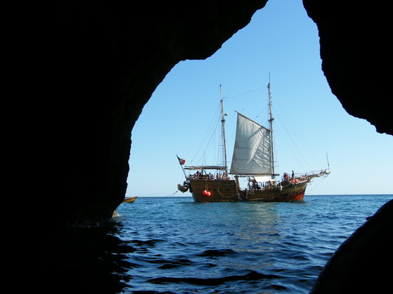 Portimao, Portugal: Our ship from the caves