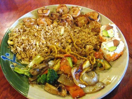 Kinkaku Japanese Steak House : My meal--enough food for 2!