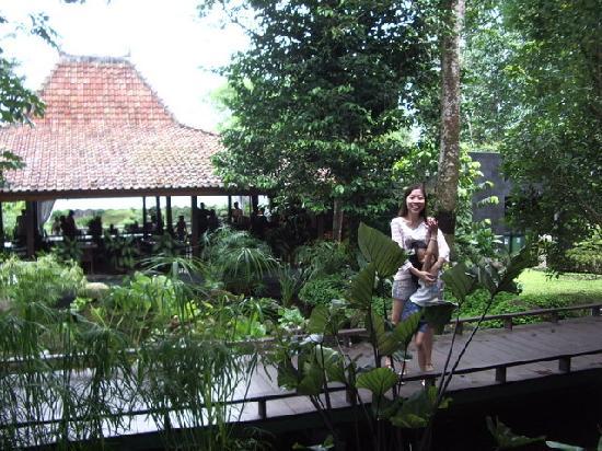 Pakem, Indonesien: garden restaurant