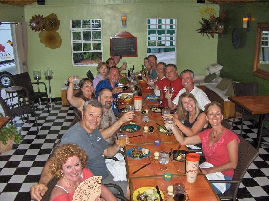 Tropic's Cafe : Dinner for the whole group