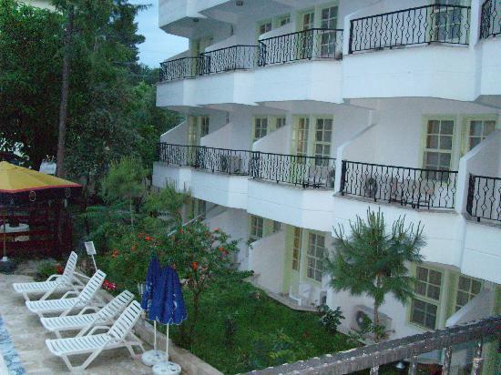 Kocak Otel Pamukkale: vue sur les chambres