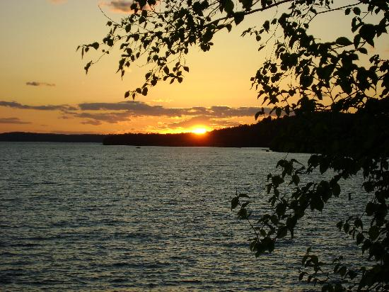 Cozy Moose on Moosehead Lake: Beautiful Sunset View from the Cabin