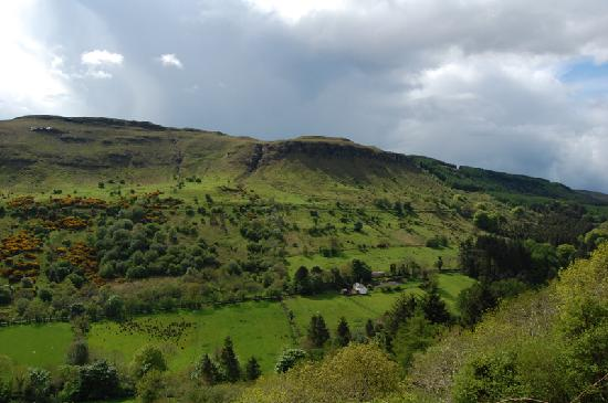 The glen where Dieskirt Farm is located (just to left of where picture ends)