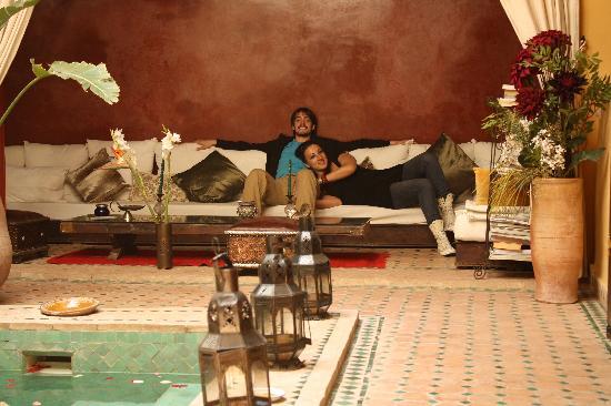 Riad Aguaviva: el salón