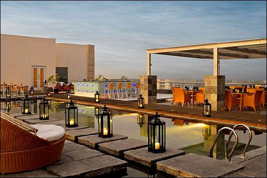 The O Hotel: addah - roof top restaurant