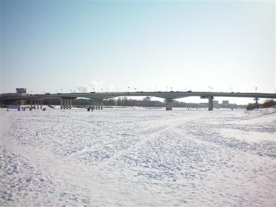 Marriott Executive Apartments Atyrau: Ural River in Winter