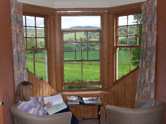 Weem, UK : View from the bedroom window