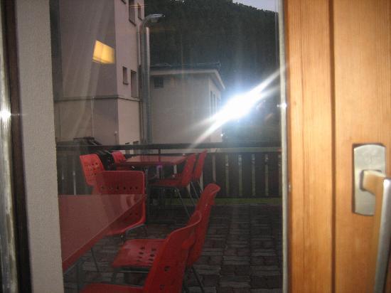 Zernez, Schweiz: Blick aus dem Schlafzimmer