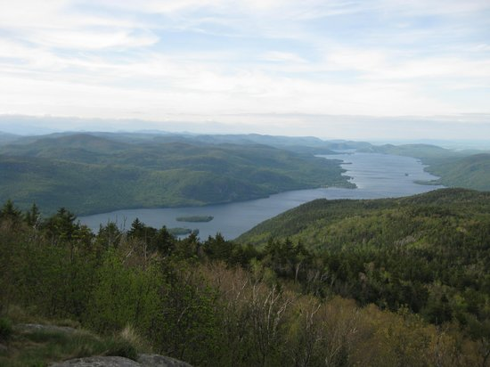 Whitehall, Nowy Jork: The view of Lake George from the top of Black Mountain