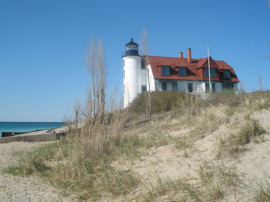 Point Betsie Light on Lake Michigan, north of Frankfort, MI