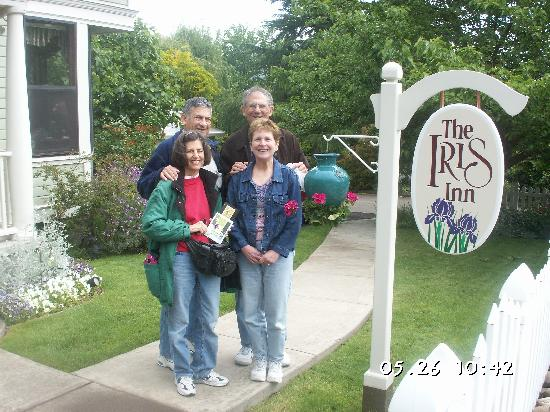 In front of the Iris Inn