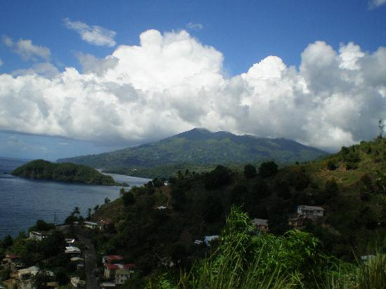 Arnos Vale, St. Vincent: a view of the volcano from the leeward side of the island