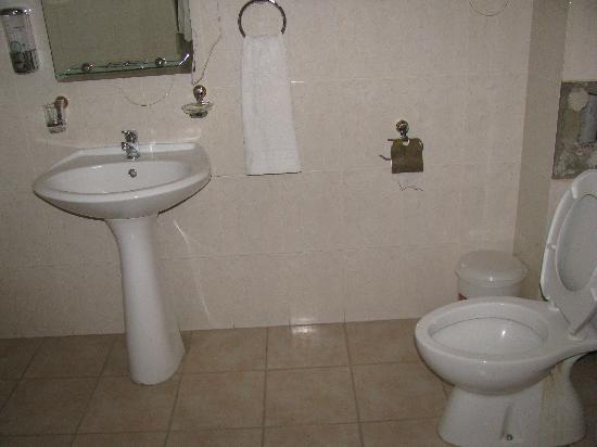 Vanadzor, Armenia: my bathroom at the Hotel Argishti