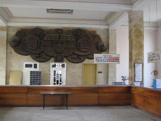 interesting decoration in the Vanadzor post office