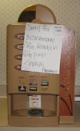 Motel 6 Billings North: Even coffee machine was broke!