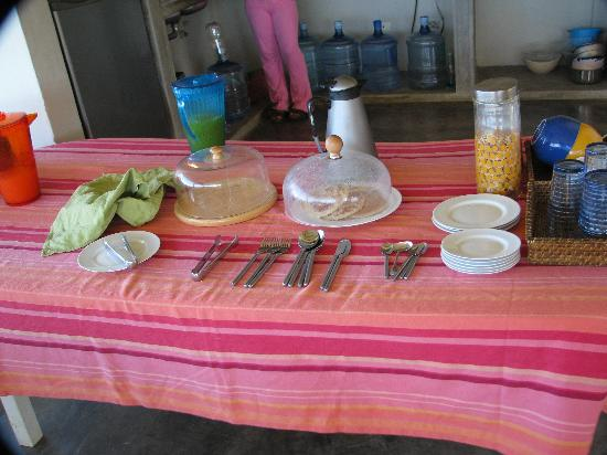 El Yaque, Venezuela: A basic yet tasty Breakfast is served every day.
