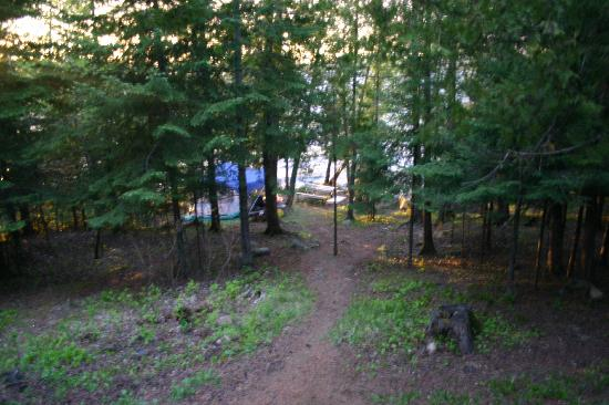 Gunflint Pines Resort & Campgrounds: Campsite #4... down a little hill
