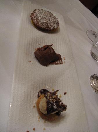 Bovio : the trio of desserts