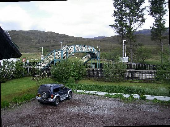 Strathcarron Hotel : The disconcerting view from the bathroom window