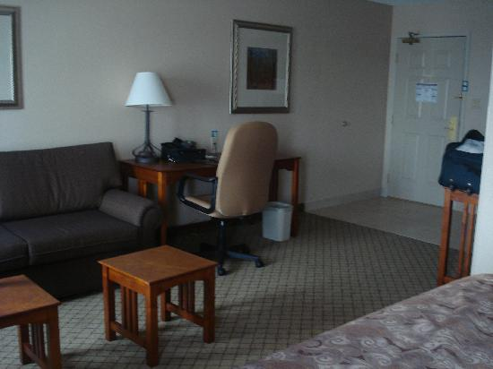 Staybridge Suites Toronto Mississauga: Leaving area with sofa