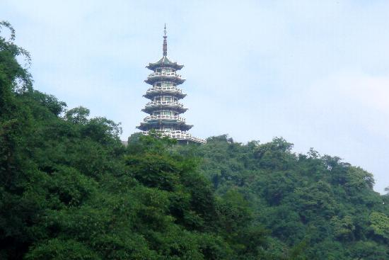 Pingguo County, China: Pagoda in the central area