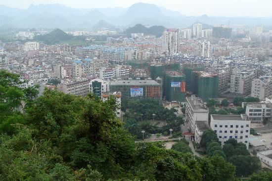 Pingguo County, China: view from the pagoda
