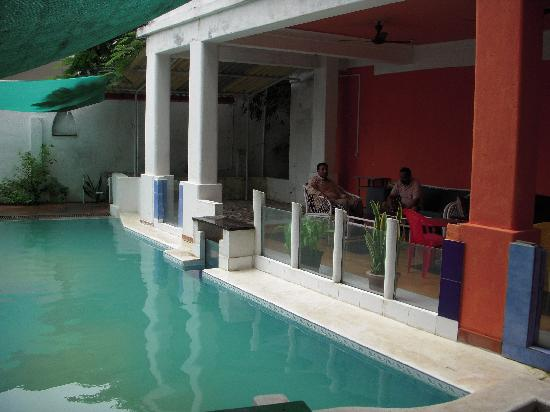 The Hoka Island Villa: Poolside