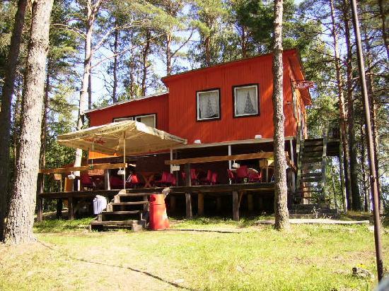 Kaunata, Λεττονία: The cafe at the Village