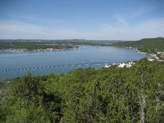 Caddo, TX: Scenic Overlook of the lake