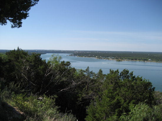 Caddo, TX: Scenic Overlook of the lake 2