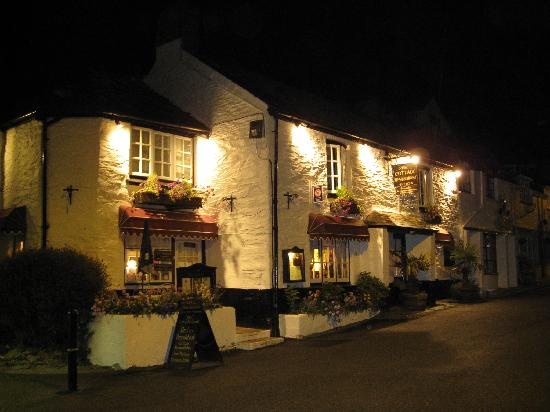 Polperro, UK: The Cottage at night