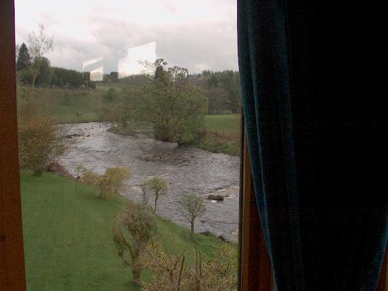 Dunblane, UK: view over stream