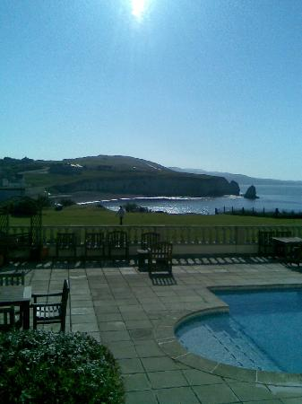 Freshwater Bay Country House: View from bar area