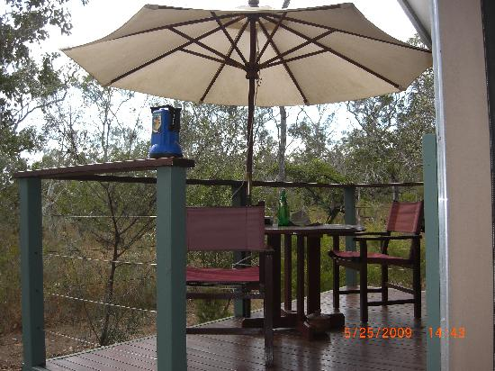 Jabiru Safari Lodge: Our tent's front porch