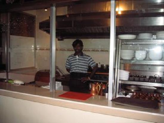 Indian Kitchen: the kitchen can be seen from the dining area