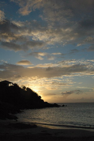 St-Martin/St Maarten : Sunset at Friars Bay